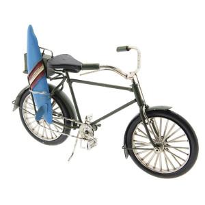 Macheta Bicicleta Retro din metal negru 23 cm x 9 cm x 13 h