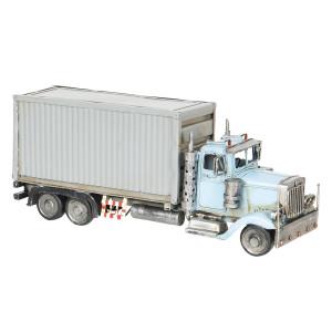 Macheta camion retro metal albastru 29 cm x 10 cm x 12 cm