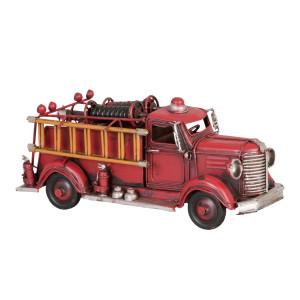 Macheta masina Pompieri retro metal rosie 23 cm x 8 cm x 10 cm