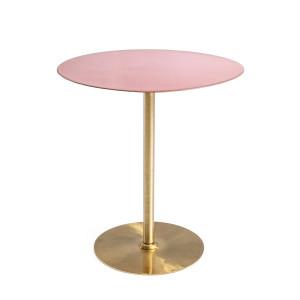 Masuta cafea fier forjat roz auriu Ø50 cm x 52h