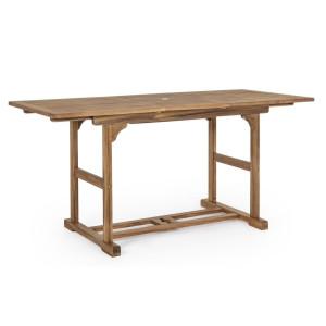 Masa extensibila din lemn maro Noemi 120/160 cm x 70 cm x 74 h