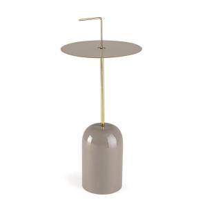 Masuta de cafea din metal bej si auriu Tulasi Ø 30 cm x 67 h