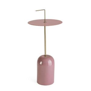 Masuta de cafea din metal roz si auriu Tulasi Ø 30 cm x 67 h