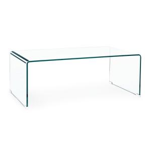 Masuta din sticla transparenta Iride 120 cm x 60 cm x 43 h