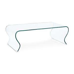 Masuta din sticla transparenta Iride 120 cm x 60 cm x 42 h