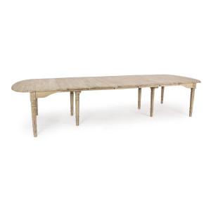 Masa extensibila lemn natur Bedford  153/382 cm x 120  cm x 78 h