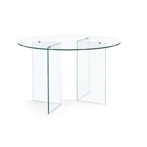 Masa din sticla transparenta Iride Ø 130 cm x 75 h