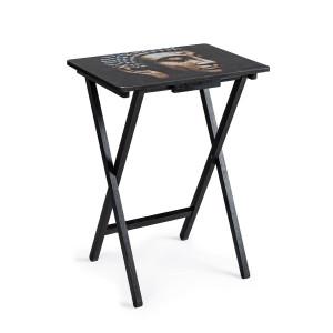 Masuta cafea lemn negru pliabila Meditation 48 cm x 35 cm x 64h