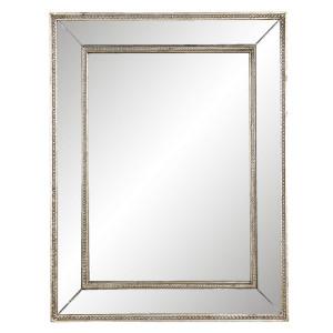 Oglinda de perete cu rama din lemn argintiu 40 cm x 3 cm x 50 h