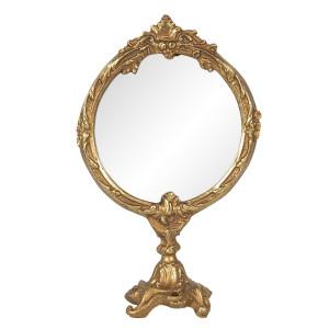 Oglinda de masa polirasina auriu 12 cm x 6 cm x 19 cm