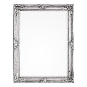 Oglinda decorativa perete cu rama lemn argintie patinata Miro 90 cm x 120 h
