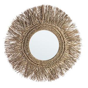 Oglinda decorativa de perete cu rama bambus natur Ilusion