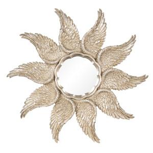 Oglinda decorativa perete polirasina auriu vintage Ø 45 cm x 3 cm