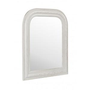Oglinda de perete cu rama polirasina alb patinat 50 cm x 3 cm x 60 H
