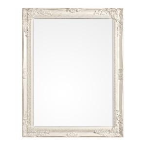Oglinda decorativa perete cu rama polirasina alb patinat Miro 50 cm x 70 h