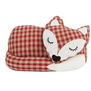 Opritor de usa textil crem rosu Fox 27  cm x 14 cm x 18 h