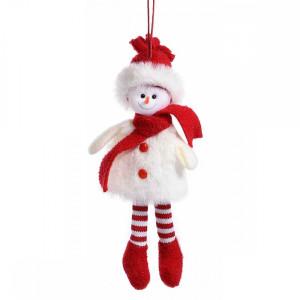 Ornament brad Om Zapada alb rosu cm 7x20 cm
