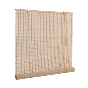 Jaluzea tip rulou din bambus natur Anna 120 cm x 260 h