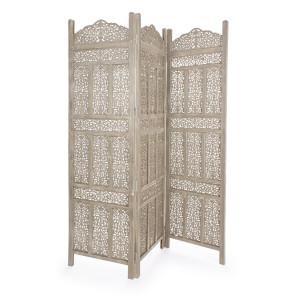 Paravan decorativ lemn gri antichizat Kartik 150 cm x 2.1 cm x 180 h