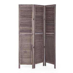 Paravan decorativ lemn gri antichizat 120 cm x 6 cm x 170 h