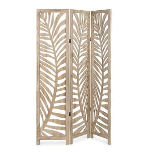 Paravan decorativ lemn natur Fern 120 cm x 6 cm x 170 h
