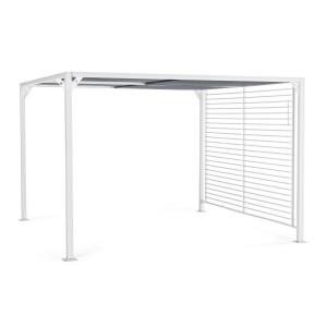 Pavilion de gradina cu cadru din fier alb copertina gri Noah 300 cm x 360 cm x 210 h
