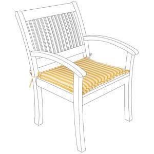Perna pentru scaun din textil galben 77 cm x 51 cm x 4 h
