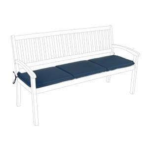 Perna bancuta 3 locuri din textil albastru Nat 153 cm x 48 cm x 3 h