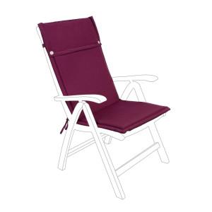 Perna scaun gradina din textil visiniu Poly 50 cm x 120 cm x 3 h