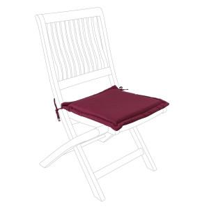 Perna scaun din textil visiniu Poly 42 cm x 42 cm x 3 h