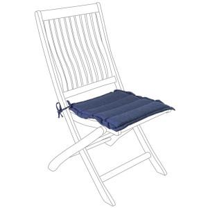 Perna scaun din textil albastru Poly 42 cm x 44 cm x 4 h