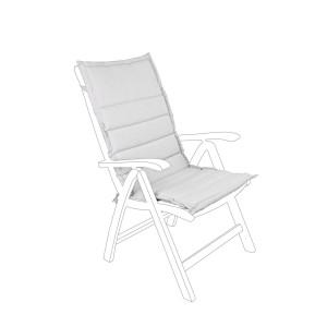 Perna scaun gradina din textil gri Paddet 52 cm x 120 cm x 4 h