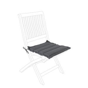 Perna scaun din textil gri Poly 42 cm x 44 cm x 4 h