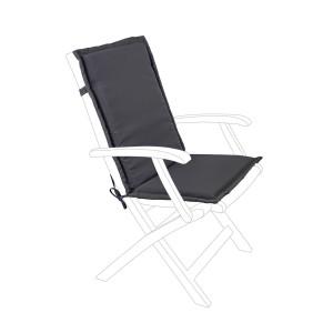Perna scaun gradina din textil gri Olefin 45 cm x 94 cm x 3 h