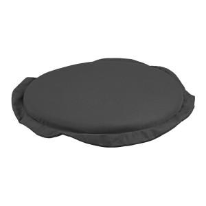 Perna rotunda scaun din textil gri Poly Ø 42 cm x 3 h