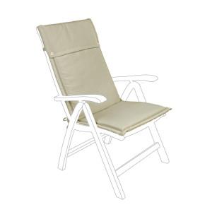 Perna scaun gradina din textil bej Paddet 50 cm x 120 cm x 3 h