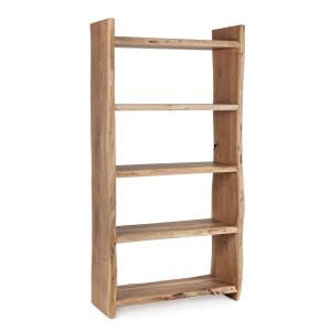 Raft lemn natur 5 polite Eneas 90 cm x 35 cm x 175 h