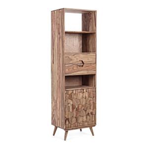 Biblioteca lemn natur Kant 57.5 cm x 40 cm x 194 h