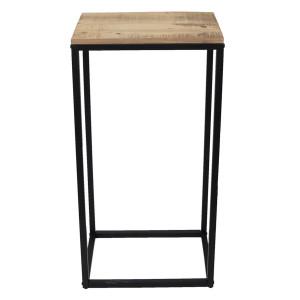 Consola din lemn natur si cadru din metal maro 40 cm x 27 cm x 81 h