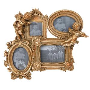 Rama foto perete polirasina auriu vintage Angels 27 cm x 4 cm  x 23 cm