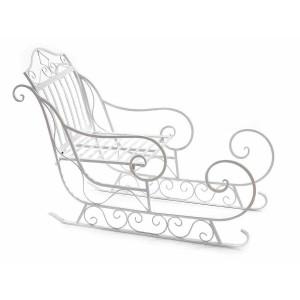 Sanie decorativa din fier alb 79x32x53 cm
