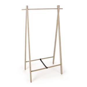 Suport pentru haine din lemn natur Daiki 89 cm x 52 cm x 151 h
