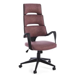 Scaun de birou ergonomic cu picior din plastic negru si tapiterie piele ecologica visiniu Bart 62 cm x 62.5 cm x 117.5/125.5 h x 48/58 h1 x 67.5/77.5 h2