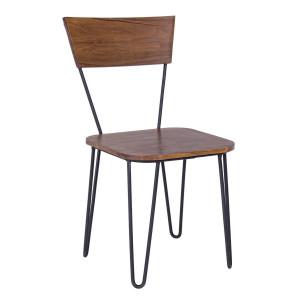 Scaun cu picioare din fier si lemn Edgar