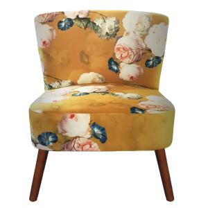 Scaun cu spatar tapiterie material textil si picioare din lemn 51 cm x 61 cm x 77 h