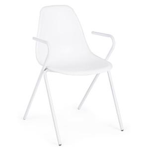 Scaun cu spatar policarbonat alb Anastasia 51 cm x 55 cm x 83 h x 46 h