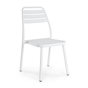 Scaun din aluminium alb Lennie 50 cm x 59 cm x 88.5 h x 45 h1