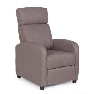 Fotoliu recliner cu tapiterie din material textil bej Elodie 67.5 cm x 90.5 /140 cm x 98 h x 45.5 h1 x 61.5 h2