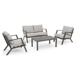 Set mobilier canapea 2 fotolii si masuta cafea Harley 127 cm x 81.5 cm x 76 h x 42.5 h1 x 61 h2