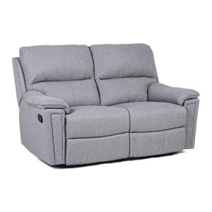 Canapea 2 locuri cu tapiterie stofa gri Olivia 157.5 cm x 96 cm x 100.5 h x 47.5 h1 x 60 h2